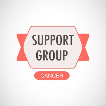 Illustration of cancer support group