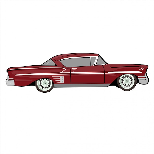 Illustration car  classic retro vintage