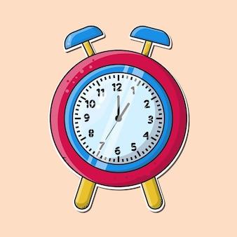 Illustration of cartoon alarm clock vector