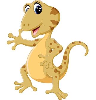Illustration of cartoon cute lizard