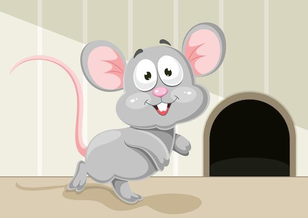 Illustration of cartoon mouse