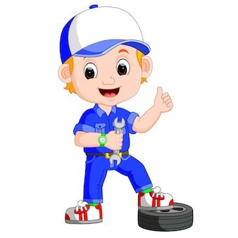 Illustration of cartoon serviceman