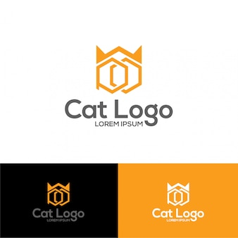 Illustration of cat logo