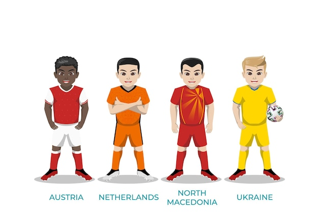Illustration character of football player for european championship