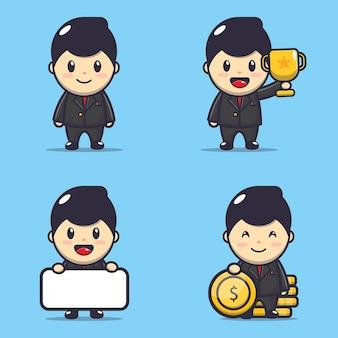 Иллюстрация характера милого бизнесмена