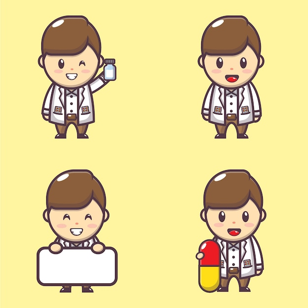 Иллюстрация персонажа милого фармацевта