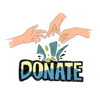 Illustration of charity support