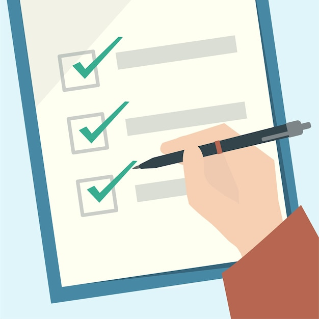 Illustration of a checklist clipboard
