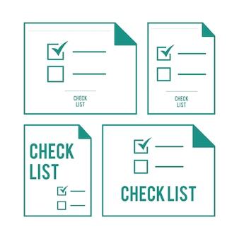 Illustration of checklist