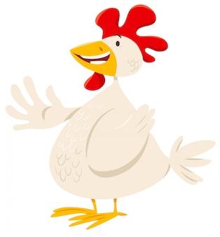 Illustration of chicken farm animal character