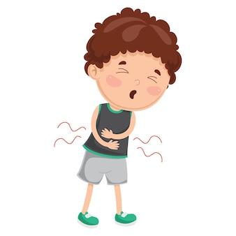 Illustration of child diseases