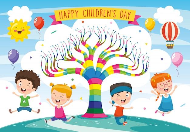 Illustration of children day