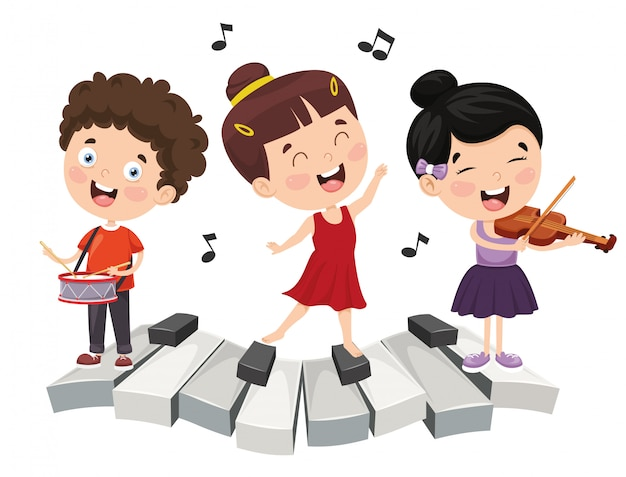 Illustration of children music