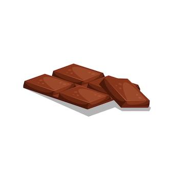 Illustration of chocolate bar slices