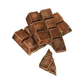 Illustration of chocolate bar