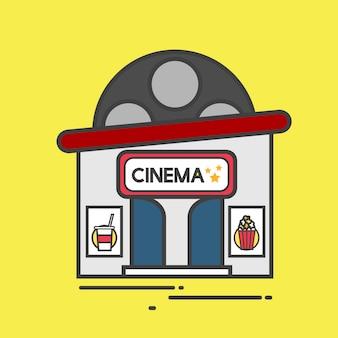 Illustration of a cinema building