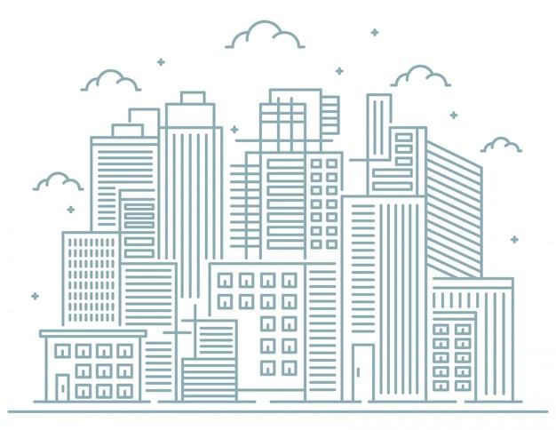Illustration of city line