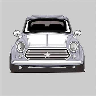 Illustration of a classic car