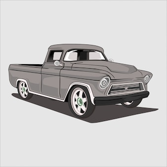 Illustration of a classic pickup truck