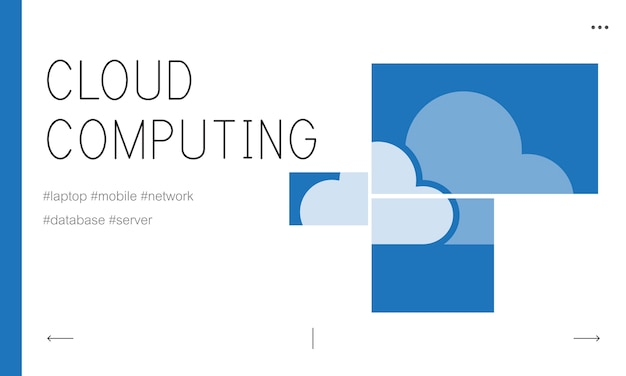 Illustration of cloud storage