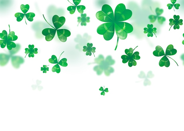 Illustration of clover background