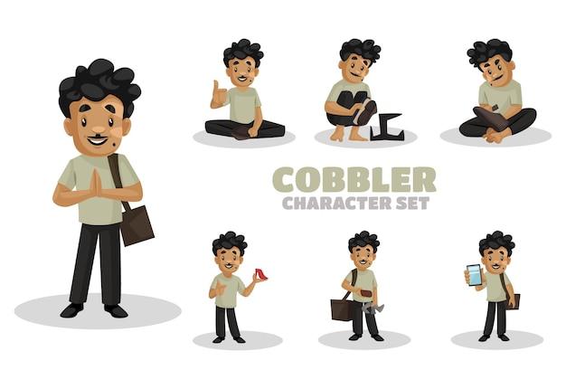 Illustration of cobbler character set