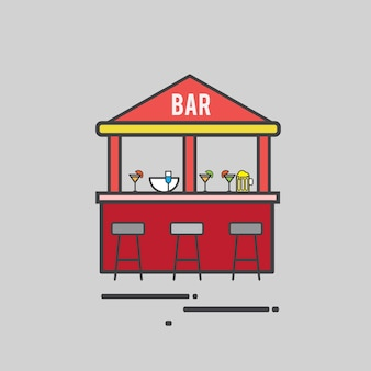 Illustration of a cocktail bar
