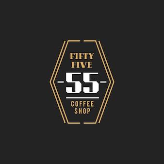 Illustration of coffee shop stamp banner