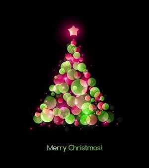 Цвет иллюстрации рождественская елка. праздничный фон