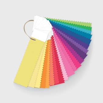 Illustration of color palette guide for home interior