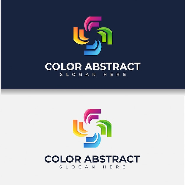 Illustration of colorful abstract medical logo, icon, sticker design template