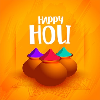 Illustration of colorful gulal powder for holi festival