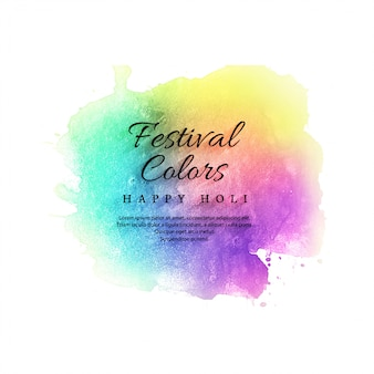 Illustration of colorful happy holi celebration background