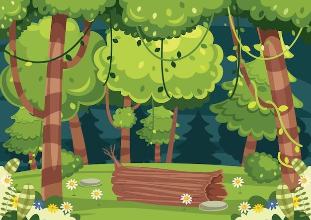 Illustration of colorful landscape