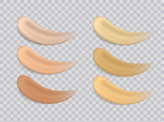 Illustration of colors foundations texture make up or cosmetic cream