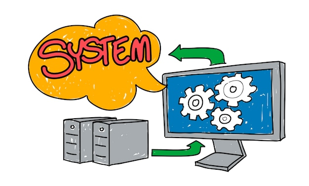 Illustration of computer system
