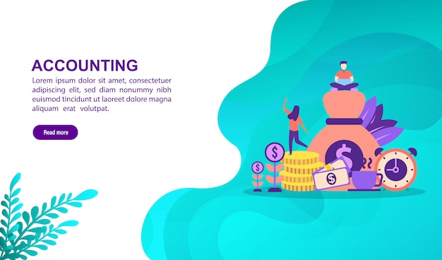 Illustration concept of accounting