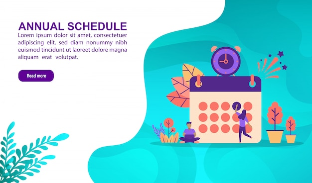 Illustration concept of annual schedule