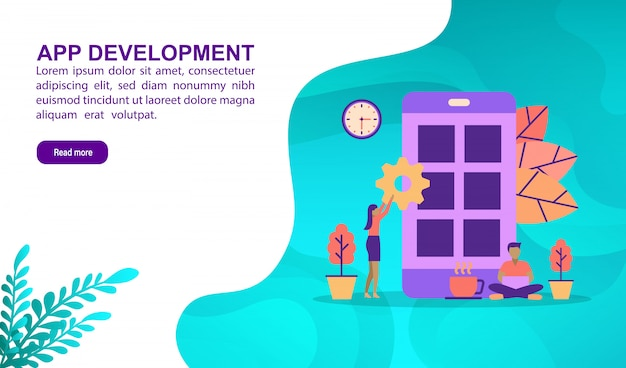 Illustration concept of app development