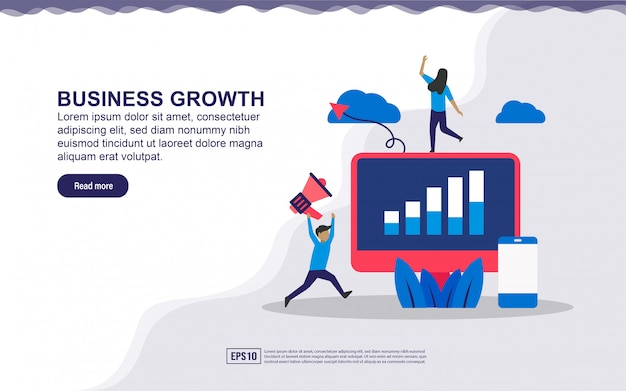 Illustration concept of business growth.