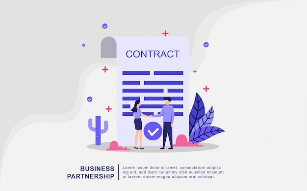 Illustration concept of business partnership