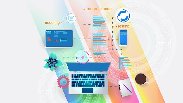 Illustration of the concept of developing mobile internet applications