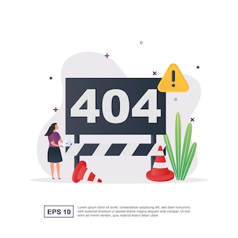 Illustration concept of error with code 404