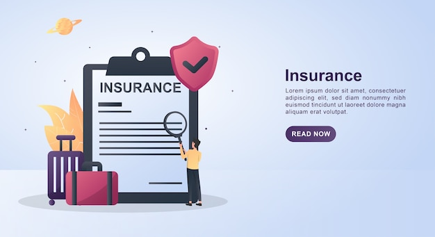 Illustration concept of insurance with the symbol of security.