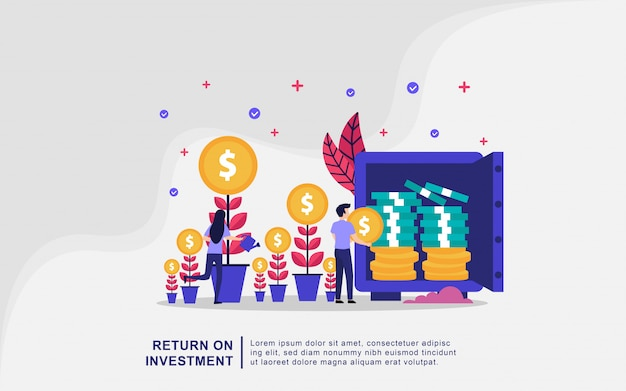 Illustration concept of investment