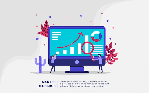 Illustration concept of market search