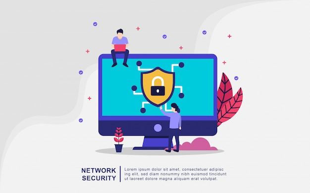 Illustration concept of network security