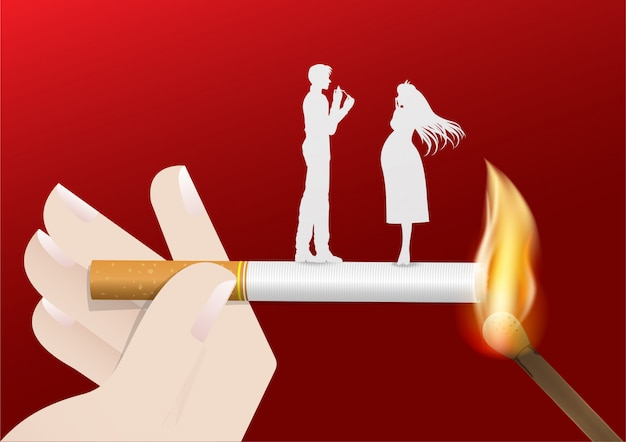 Illustration of concept no smoking day world