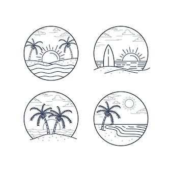 Концепция иллюстрации пляжа