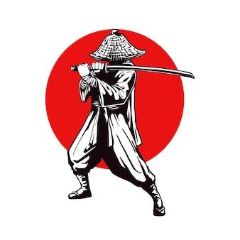 Концепция иллюстрации самураев